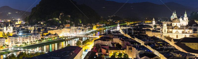 Noche hermosa vista histórico ciudad tierra Foto stock © vichie81
