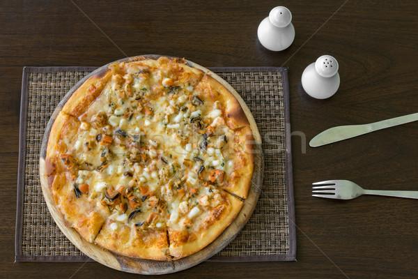 Seafood Pizza Stock photo © vichie81