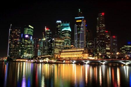 skyscraper in Singapore at night Stock photo © vichie81