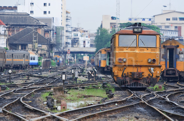 Diesel Lokomotive Zug orange Bangkok Stock foto © vichie81