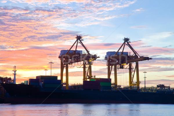 судно Восход рабочих порта воды морем Сток-фото © vichie81