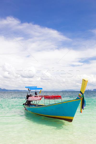 Tekne tropikal plaj uzun kuyruk tropikal Stok fotoğraf © vichie81