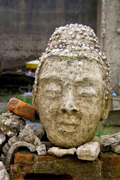 Buddha immagine testa rovina tempio faccia Foto d'archivio © vichie81