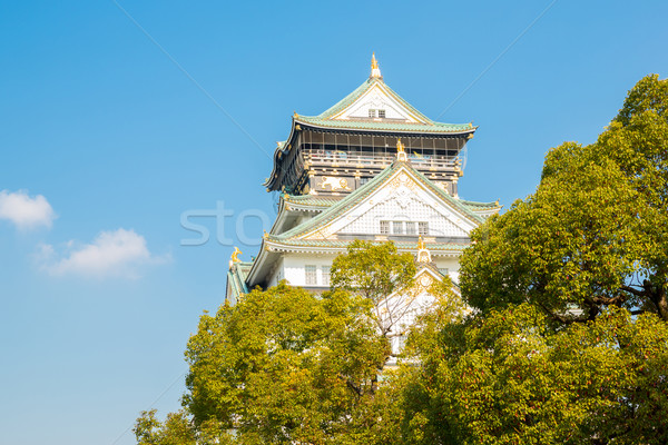 Stockfoto: Osaka · kasteel · Japan · najaar · gebouw · reizen