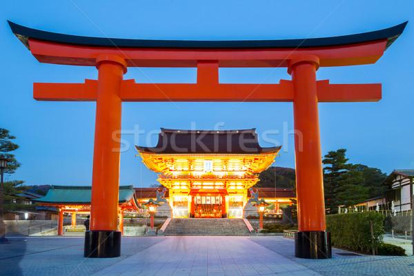 Santuario kyoto Giappone cielo estate Foto d'archivio © vichie81