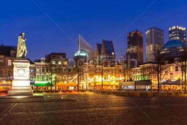 Nederland centrum monumentaal oude gebouwen moderne Stockfoto © vichie81