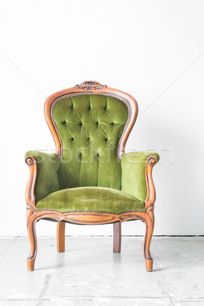 Green Vintage chair Stock photo © vichie81