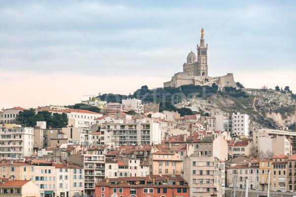 Marseille France sunset Stock photo © vichie81
