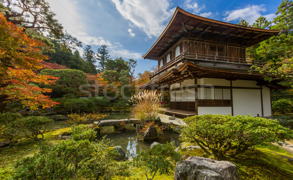 京 寺 銀 日本 水 建物 ストックフォト © vichie81