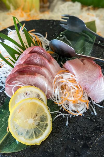 Sashimi Japon gurme mutfak balık sağlık Stok fotoğraf © vichie81