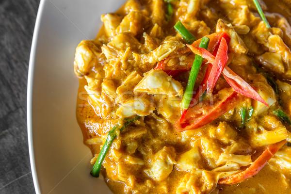 カニ 肉 カレー 唐辛子 フライド タイ ストックフォト © vichie81