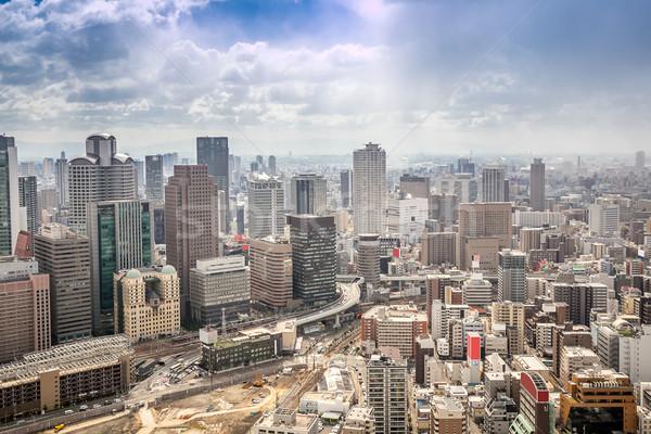 Cityscape ufuk çizgisi Bina sanayi Asya Stok fotoğraf © vichie81