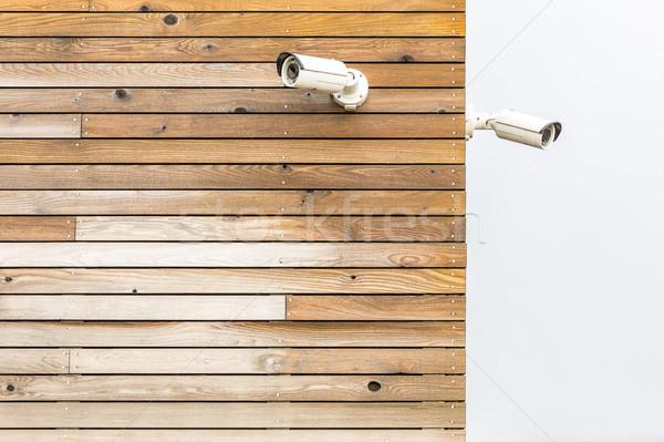 Câmera cctv câmera de segurança painel parede Foto stock © vichie81