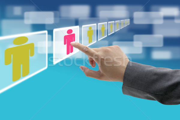 business electronic recruitment Stock photo © vichie81