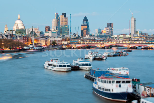St Paul's Cathedral and River Thames Stock photo © vichie81