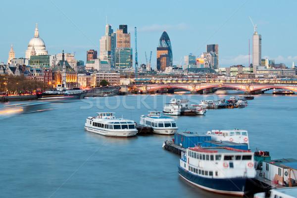 Katedrális folyó Temze London városkép Anglia Stock fotó © vichie81