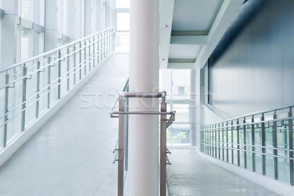 Arquitetura moderna corredor interior negócio edifício projeto Foto stock © vichie81