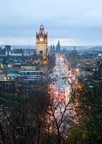 Edinburgh skyline with garden Scotland UK Stock photo © vichie81
