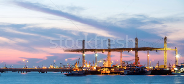 Panorama of Industrial Port Stock photo © vichie81