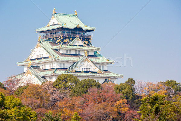 Osaka kale sonbahar bahçe Bina seyahat Stok fotoğraf © vichie81