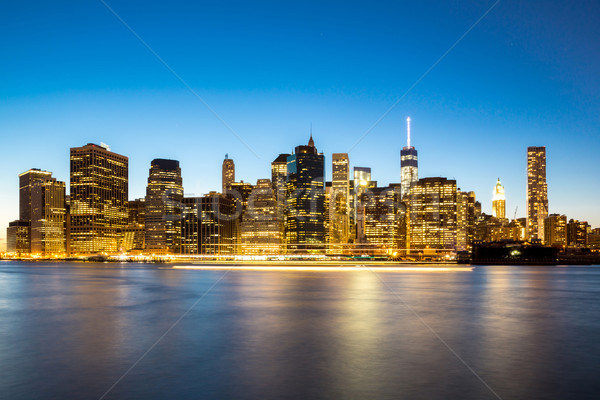 New York City Manhattan skyline Stock photo © vichie81