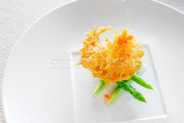 scallop with sweet shrimp sauce Stock photo © vichie81