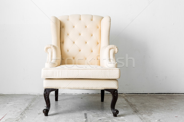 beige retro chair Stock photo © vichie81