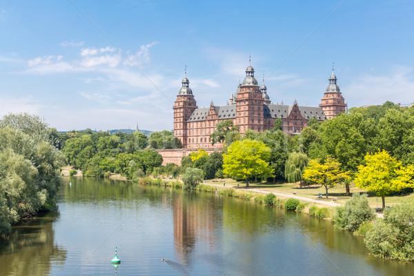 Foto stock: Palacio · Frankfurt · árbol · forestales · jardín · arte