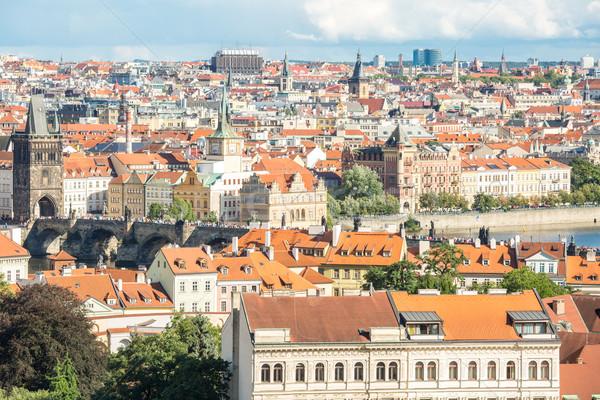 Prague cityscape Stock photo © vichie81