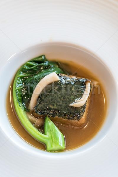 自家製 豆腐 キノコ グレービー ソース ストックフォト © vichie81