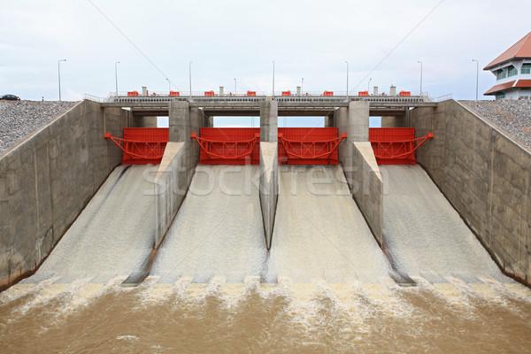 Water gate dam Stock photo © vichie81