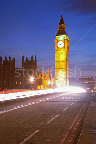 Big Ben Light Trail Stock photo © vichie81