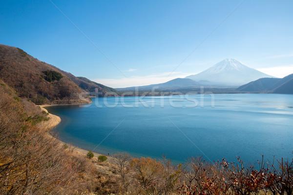 Dağ fuji göl Japonya gökyüzü manzara Stok fotoğraf © vichie81