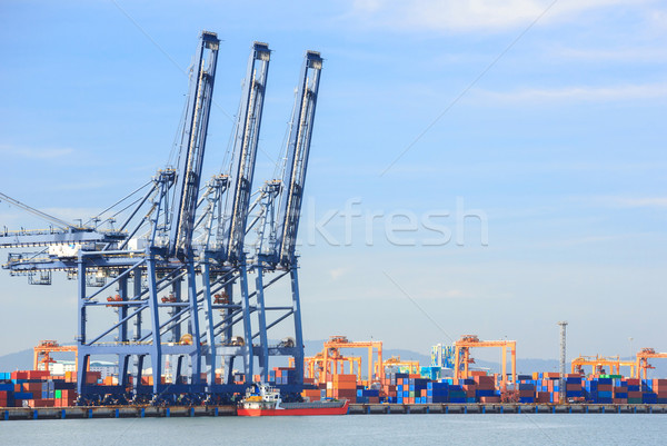 Big Industrial Port Stock photo © vichie81