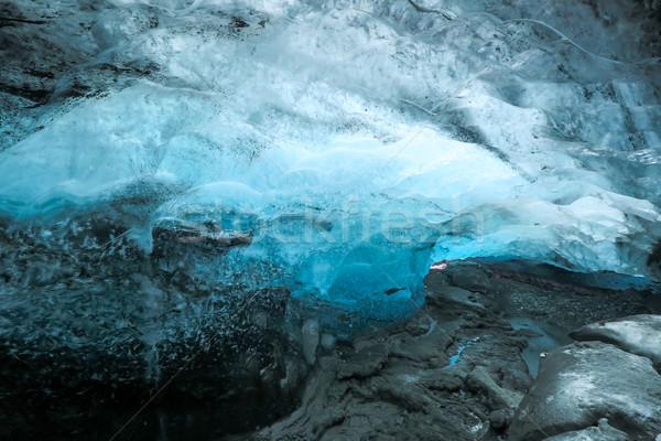 льда пещере Исландия ледник воды природы Сток-фото © vichie81