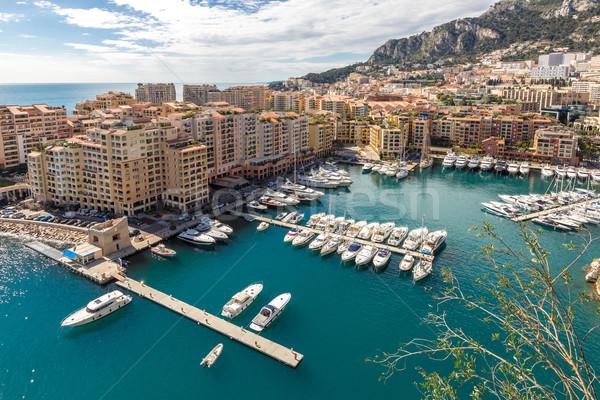 Monaco port eau maison ville paysage Photo stock © vichie81