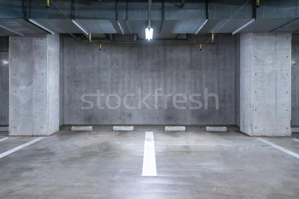 Parkolás garázs földalatti üres belső pláza Stock fotó © vichie81