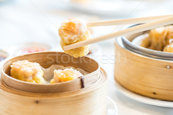 Cinese dim sum mangiare cottura pranzo Foto d'archivio © vichie81