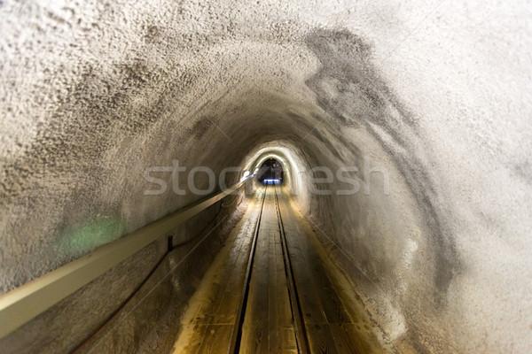 соль мои коридор подземных древесины технологий Сток-фото © vichie81