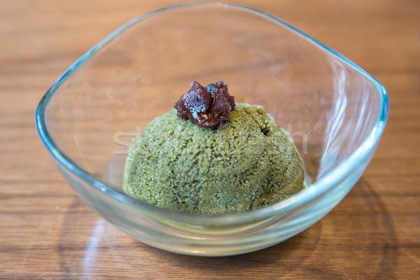 зеленый чай мороженым чай еды десерта Сток-фото © vichie81
