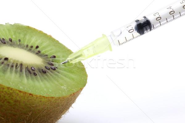 Genetikai étel mérnöki kiwi absztrakt tudomány Stock fotó © vichie81