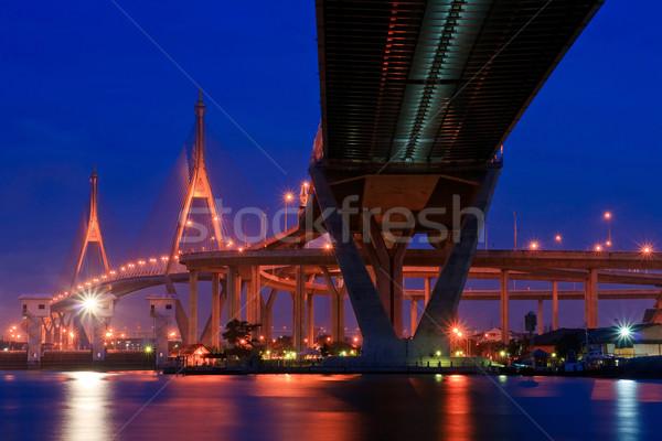 Бангкок как моста Таиланд промышленных кольца Сток-фото © vichie81