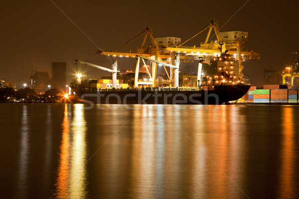 Haven nacht groot container vracht schip Stockfoto © vichie81