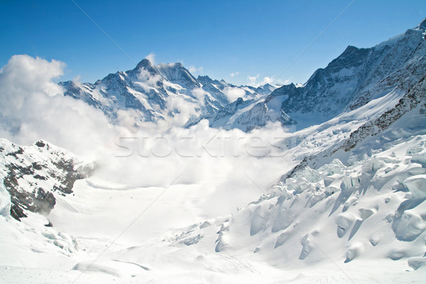 Montagne gamme Suisse paysage monde glace Photo stock © vichie81