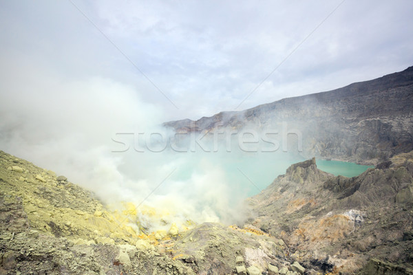 Stock photo: Sulfur Mine at Khawa Ijen Volcano