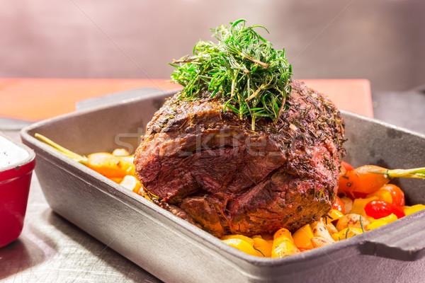 Grilled Rib-Eye Beef steak Stock photo © vichie81