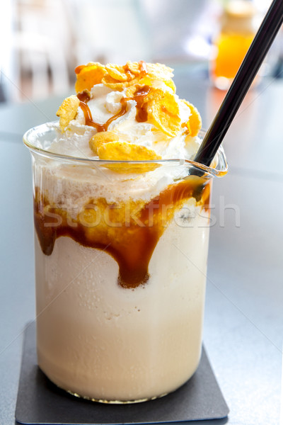 creme brulee Frappe Stock photo © vichie81
