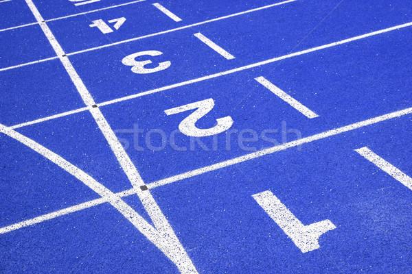 Bent versenypálya nézőpont vonal stadion textúra Stock fotó © vichie81