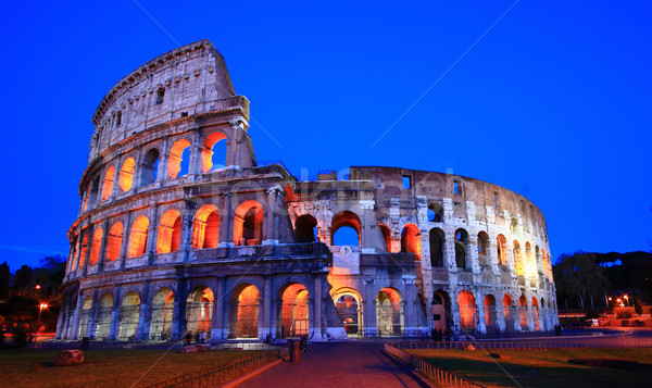 colosseum rome italy night Stock photo © vichie81