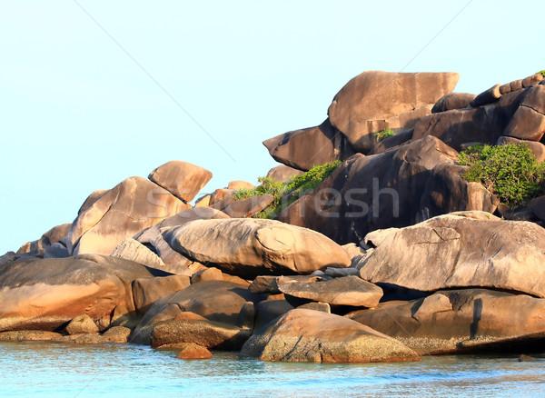Snoopy Rock Andaman Similan Thailand Stock photo © vichie81